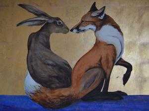 The Space Between the Hare and the Fox: The Space Between the Fox and the Hare - Jackie Morris - The House of Golden Dreams